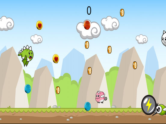 Cute Flying Dino Jurrasic Dash screenshot 3