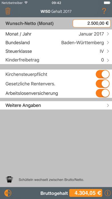 WISO Gehalt iPhone Screenshot 2