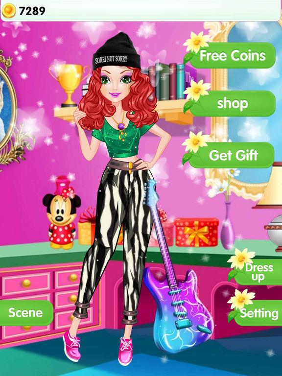 Звезд Девушка - одеваются игры Скриншоты8