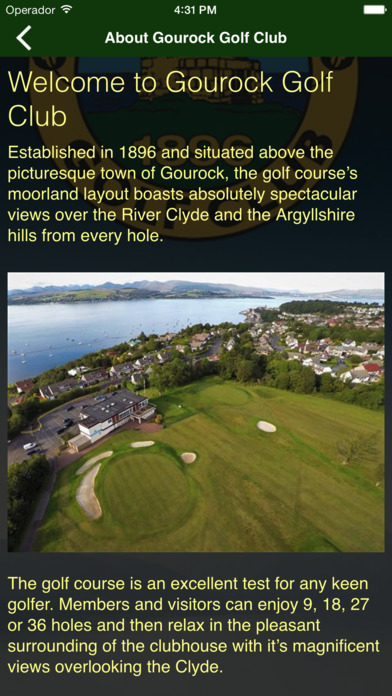 Gourock Golf Club screenshot 1