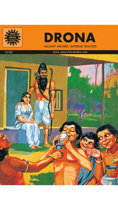 Mahabharata And Drona Digest (One of the greatest epics of all time) - Amar Chitra Katha Comics iPhone Screenshot 2
