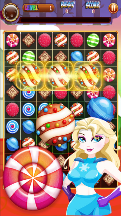 Superhero Candy Sweet Puzzle: Ice Mania screenshot 1