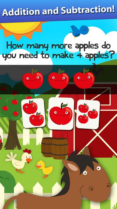 Animal Math Preschool Math Games for Kids Math App Screenshots