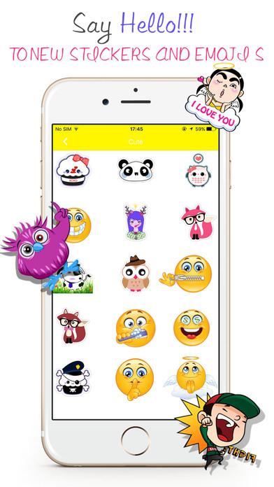 Stickers Emoji For WeChat -Avatar GIF & Fancy Text screenshot 1