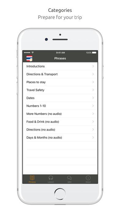 World Nomads Thai Language Guide iPhone Screenshot 1