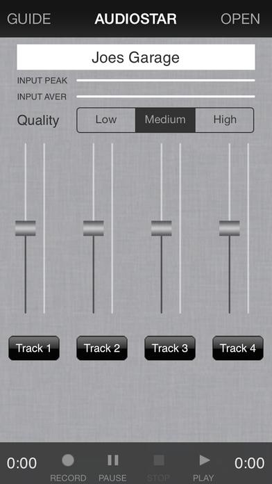 Audiostar Multitrack Recording Mixer iPhone Screenshot 1