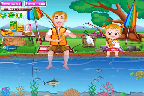 Cute Baby Fishing screenshot 2