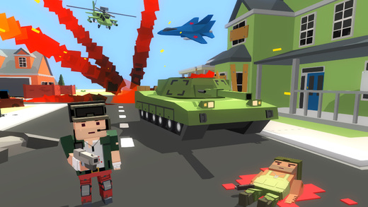 Blocky War - Cube City Defense Screenshots