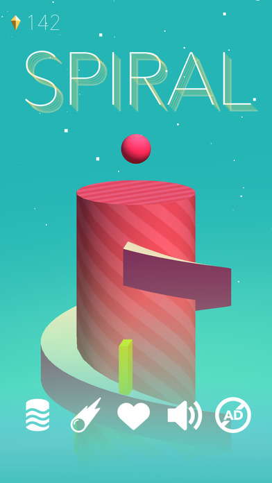 Spiral Games free for iPhone/iPad screenshot