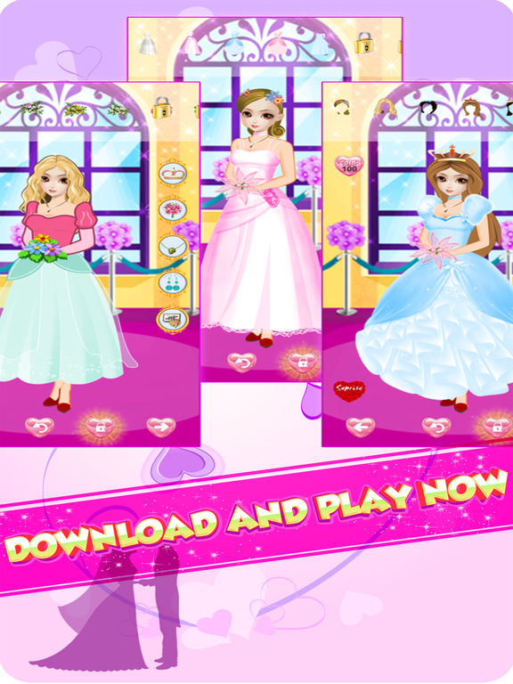 App shopper wedding dress up girls salon makeup games games for Design your own wedding dress app
