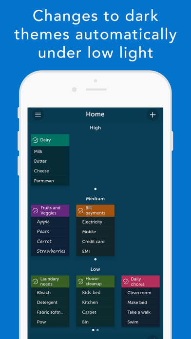Orderly - To-do Lists, Location Based Reminders Screenshots