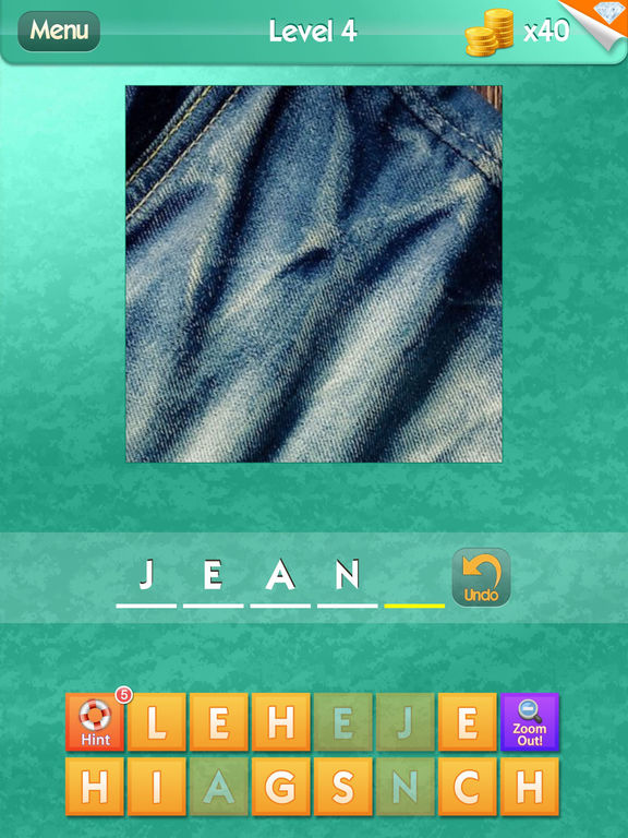 Screenshots of What's the Close Up? ~ guess the hidden object in this word puzzle of close up pics for iPad