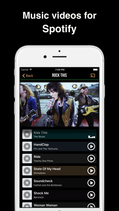 VideoSpoty - Music videos on your iPhone Screenshot