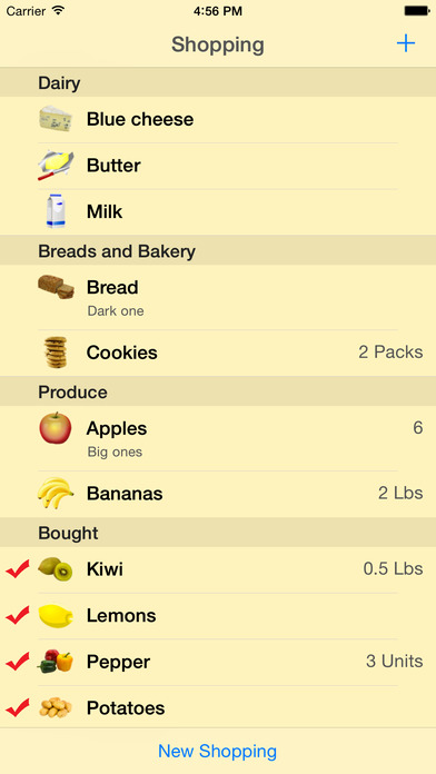 Shopping List - quick and easy iPhone Screenshot 1