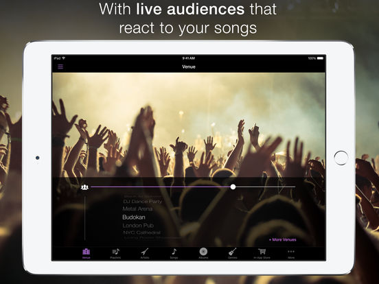 LiveTunes - Live Concert Reverb Music Player Screenshots