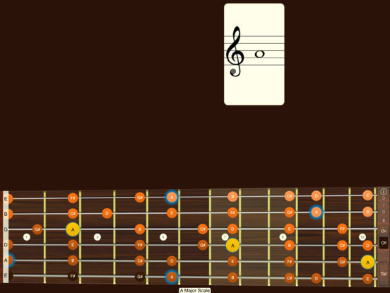 Guitar Sight Reading & Fretboard Trainer iPad Screenshot 1