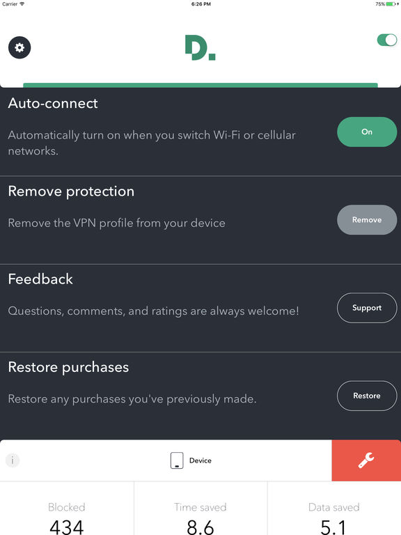 Disconnect Pro Privacy and Performance Screenshot