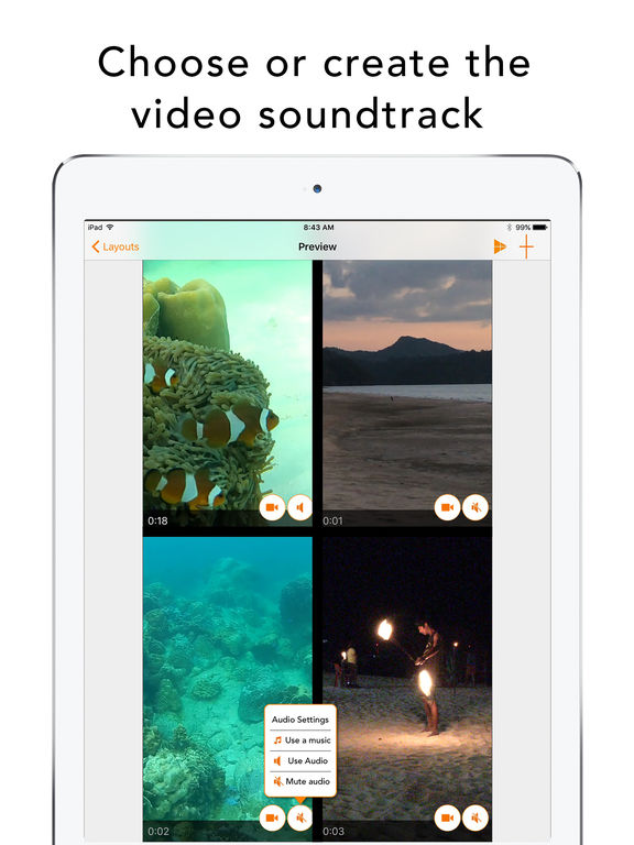 Split Screen Videos Screenshots