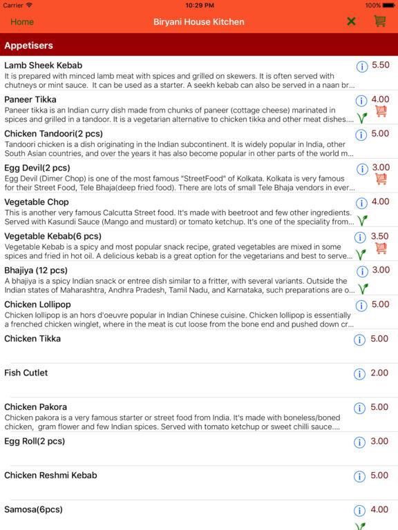 App shopper biryani house kitchen food drink for M kitchen harbison sc menu