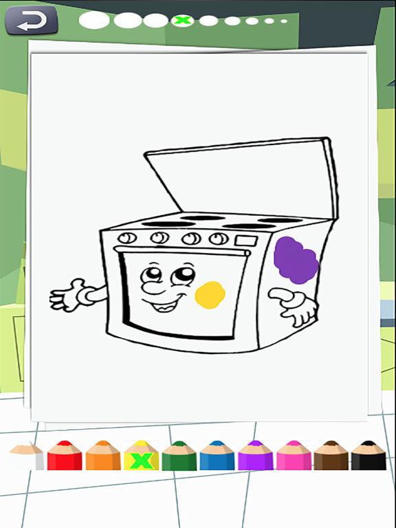coloring books kitchen screenshot 5