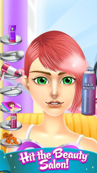 App shopper kids salon spa makeover games girls boys games - Beauty salon makeover games ...