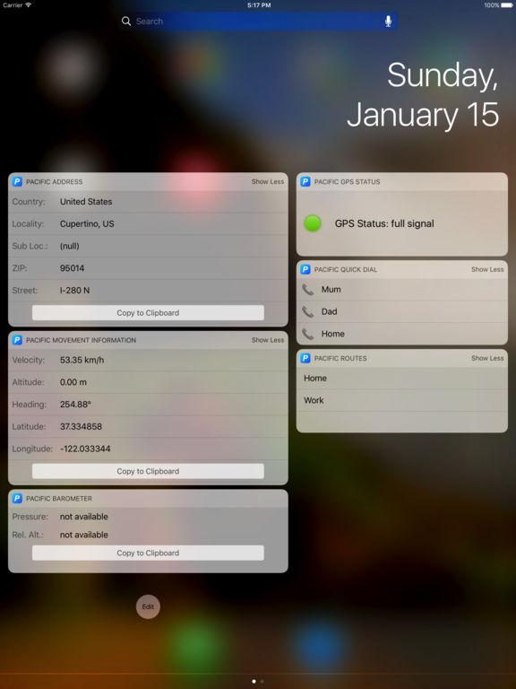 Pacific - Powerful Location Information Widgets Screenshots