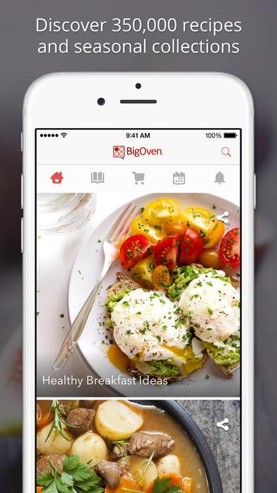 170,000+ Recipes - BigOven iPhone Screenshot 1