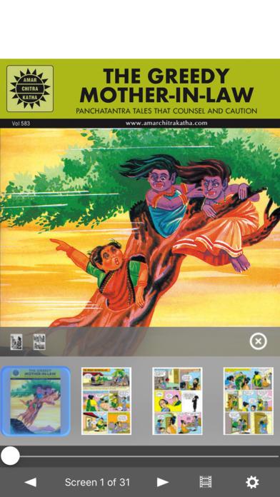 Panchatantra Moral Stories - The Greedy Mother-In-Law - Amar Chitra Katha Comics iPhone Screenshot 1