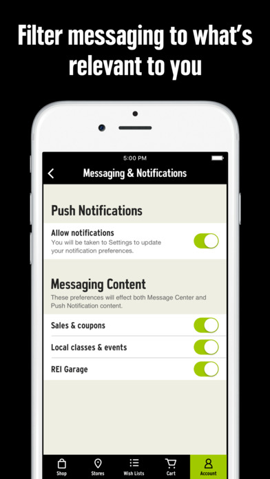 REI iPhone Screenshot 3