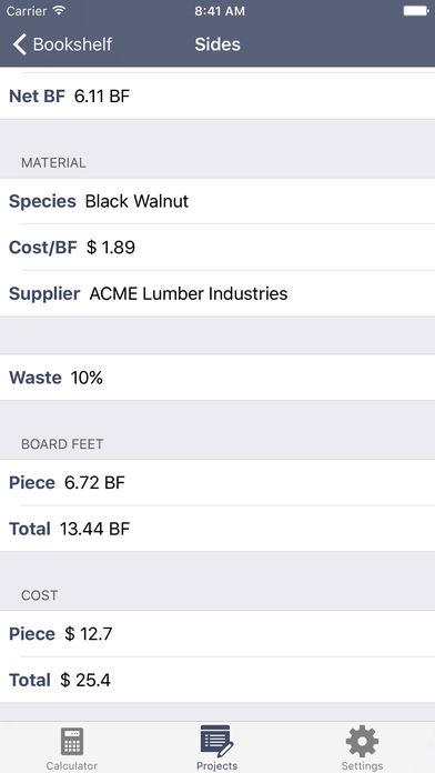 Board Foot Planner app image