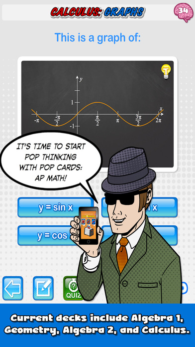 Pop Cards: AP Math Screenshots