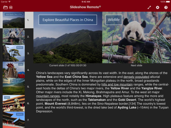 Slideshow Remote™ for PowerPoint iPad Screenshot 1
