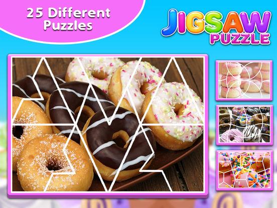 Screenshot #3 for Sweet Donuts Jigsaw Puzzle - Sweet Logic Game