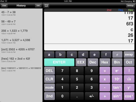 Eng Calc HD iPad Screenshot 2
