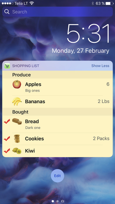 Shopping List - quick and easy iPhone Screenshot 2