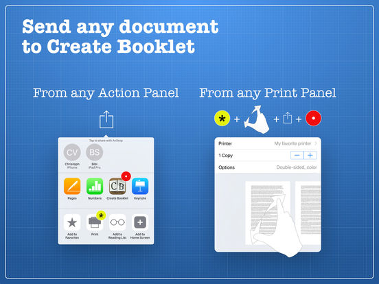 how to use create booklet app
