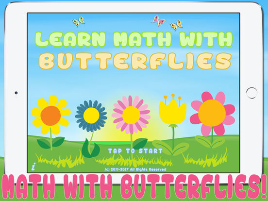 Matherfly HD - Learn Math with Butterflies! iPad Screenshot 1