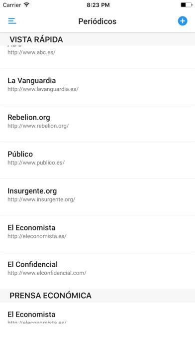 PERIÓDICOS iPhone Screenshot 1