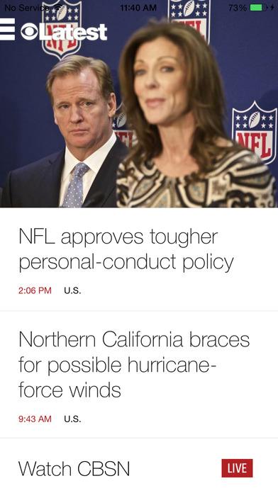 CBS News iPhone Screenshot 2