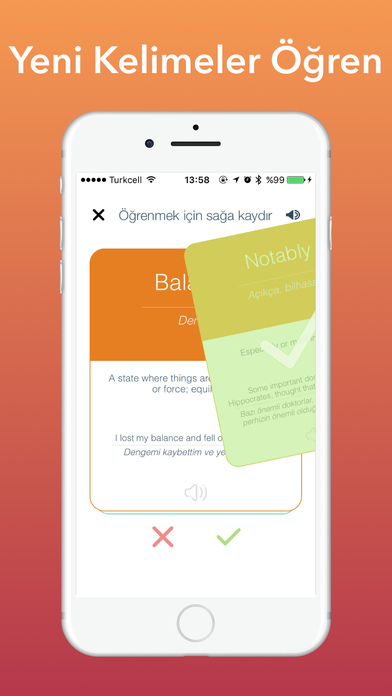 Kolay İngilizce Kelime Öğren - YDS & TOEFL Apps free for iPhone/iPad screenshot