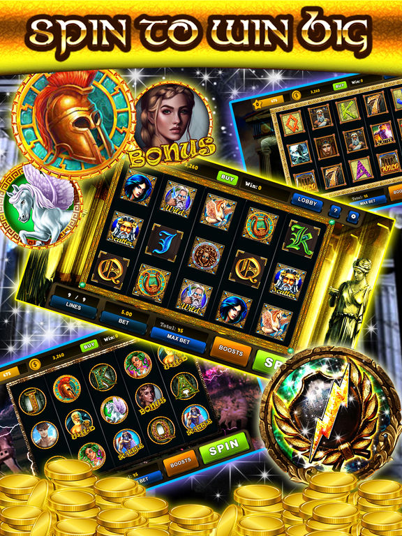 Screenshots of 777 Zeus Casino Slots– Let It Rain Money Game Free for iPad