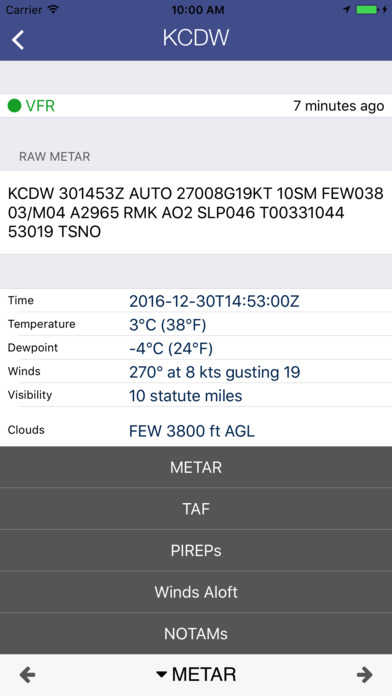AirWX Aviation Weather iPhone Screenshot 5