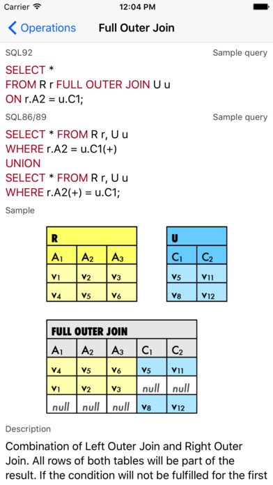SQL Primer iPhone Screenshot 4