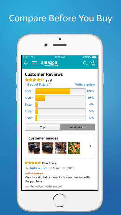 Screenshot for Amazon App: shop, scan, compare, and read reviews in United States App Store