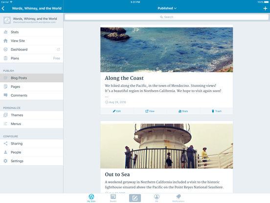 WordPress iPad Screenshot 3