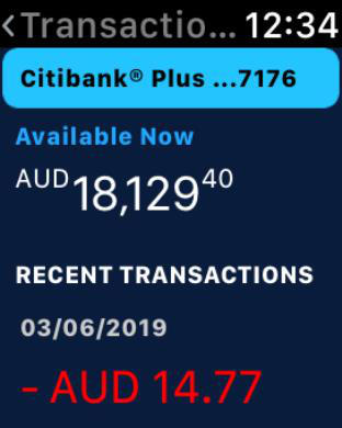 Citibank AU iPhone Screenshot 7