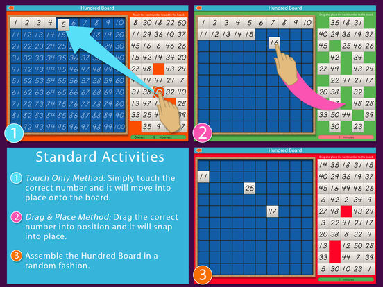 A Montessori Approach to Math - Hundred Board iPad Screenshot 3