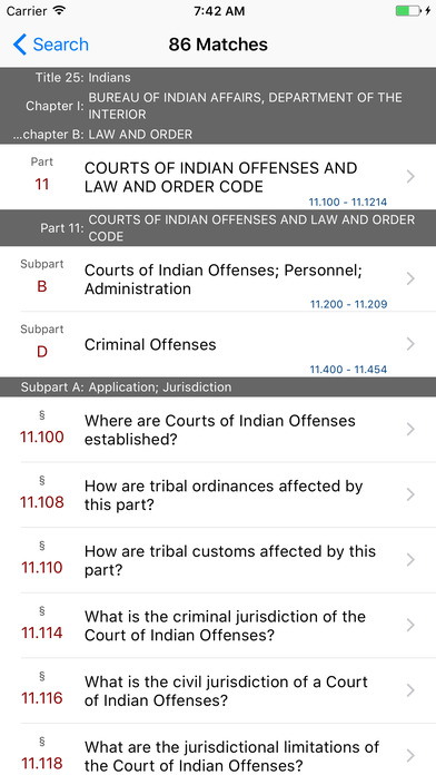 Title 25 Code of Federal Regulations - Indians iPhone Screenshot 5