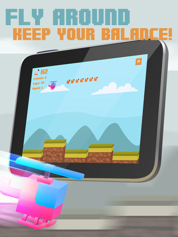 Color Copter Flight Race Pro screenshot 3