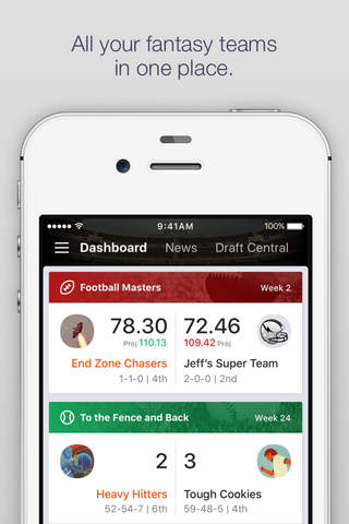 Yahoo Fantasy Football & more screenshot 1